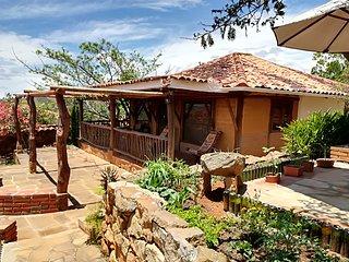 hermosa cabana con hermosa vista a barichara, canon del chicamocha