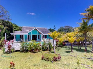 Lush plantation home w/ private pool, terrace & garden - 5-minute walk to beach!