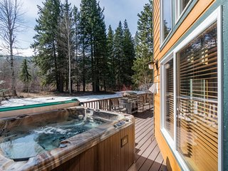 Spacious, secluded cabin w/ private hot tub on the river - dogs welcome!