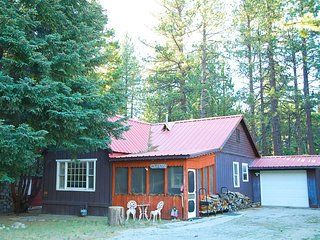 Quaint 2 bedroom cabin in the woods, near to lake, hiking, skiing, forest