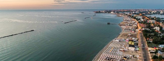 Property aerial view-The real ❤ of Mamaia beach area-morning time