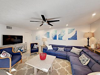 Updated 3BR w/ Yard, Covered Patio & Lounge Area - Near Beach & Bistros