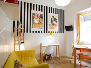 Colorful apartment in quiet and posh Lisbon