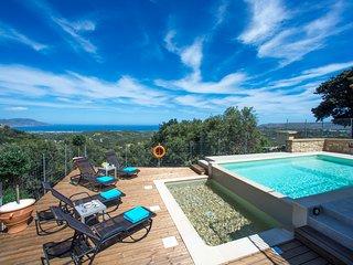 Cretan View Villa - Sea View - Heated Swimming Pool