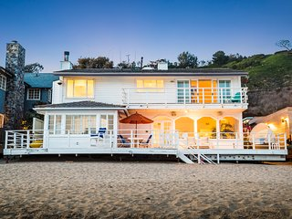 Famous Malibu Beach House. Located on Carbon Beach