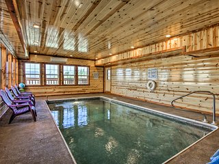 NEW! Sevierville Cabin with Theater & Indoor Pool!