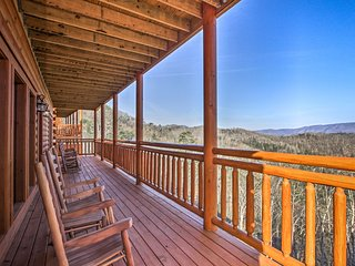 Sevierville Cabin with Home Theater & Indoor Pool!