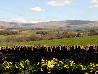 The rolling Pennine across the fields