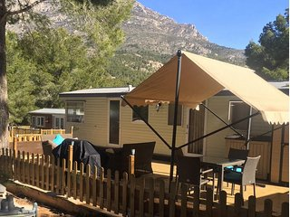 Lovely Mobile Home for Holiday Lets in the Mountains above Benidorm, Spain