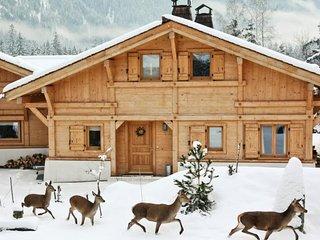 Beautiful chalet Arolles: Top view & sauna