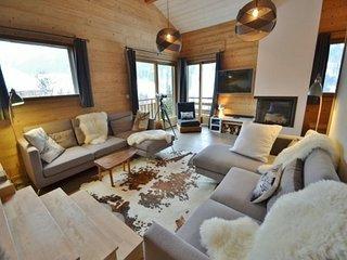 Chalet de luxe 9-10 pers, 5 chambres, sauna, proche des pistes et commerces!