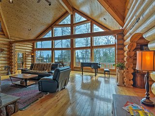 Barbeau Log Cabin w/Pool Table & River Views!