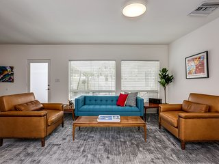 New Mid-Century Marries Modern With Media Room