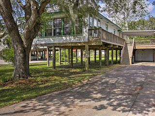 NEW-Elevated Home on Bayou Dularge w/ Boat Tie Up!
