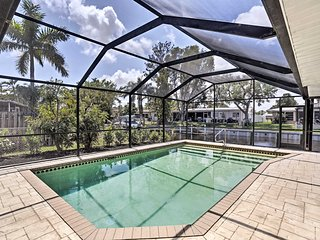 NEW-'Pacific Dream' N Fort Myers Canal Home w/Pool