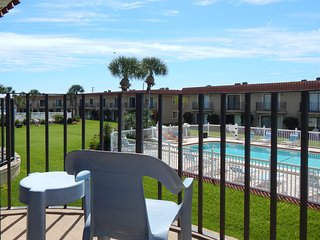 Ponce Landing Unit 47, Poolside and ocean side view, 2 pools, family friendly