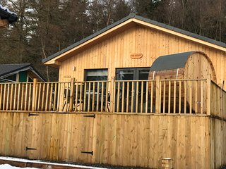 The Escape, Luxurious 3 bedroom Lodge , Hot tub & Outdoor barrel sauna