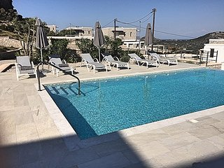 The Red Rock infinity pool  Villa close to Faliraki & Afandou