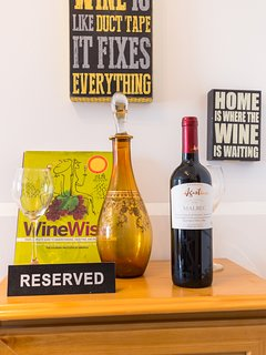 Wine section, enjoy and have a glass of wine with us.