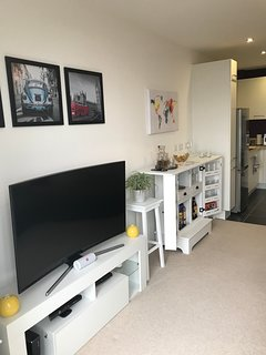 Bar and TV stand