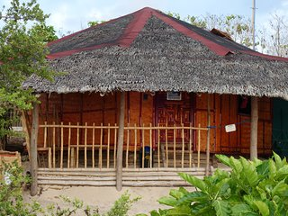 Native Family Beach House on white Sand