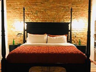 Master bedroom, four poster super king bed