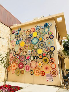 The old town is full of beautiful artwork on display in the streets