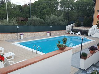 Villa with  pool and garden, beautiful views of Mount Etna and the Ionian sea.