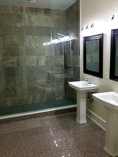 12-foot granite double-shower