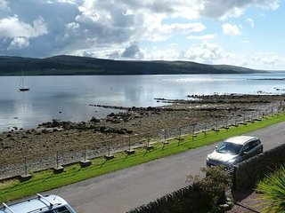Balcony view of the lower Kyle and the Isle of Bute