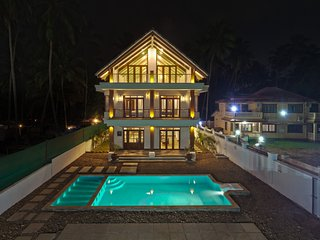 Opulent Balinese Style Villa in Goa with Swimming Pool, Kids Pool and Zen Garden