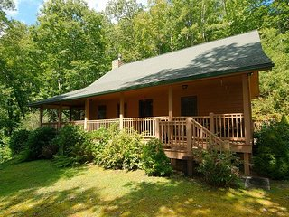 Secluded 2 BR 2 BA Cabin,Glamorous Views,Hot Tub, Firepit, Lots of Deck Space