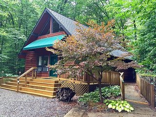 2 Bd 2 Ba Cabin Secluded Near Town Rushing Creek Handicap Friendly Hot Tub