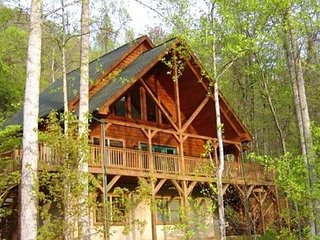 2 Bedroom with Loft 2 Bath Cozy Cabin, Private, Views,Porch, WIFI, Hot Tub