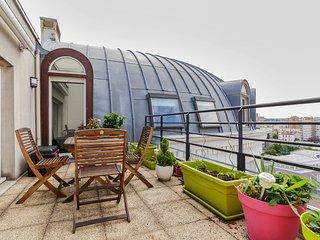 Montrouge, 2 chambres avec terrasse et parking aux portes de Paris