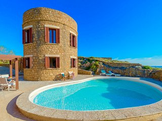 Seafront Villa Tower with private swimming pool