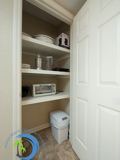 Pantry with Cooking Appliances