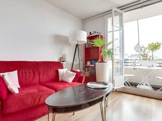 Jean, Studio alcove avec balcon a 15 minutes du centre de Paris