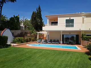 Villa Sol. Spacious end of crescent house with sea views and private pool.
