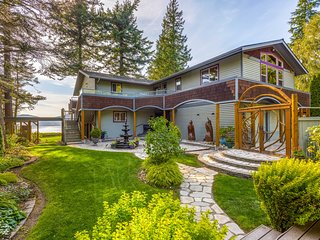 NEW! Custom Guemes Home w/Spectacular Water Views
