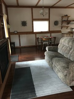 love seat with leg rest for relaxing