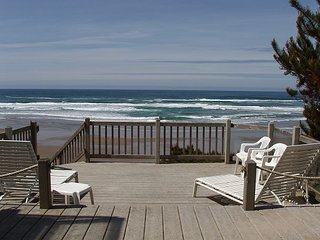 Beachfront Home with Fire pit & beach stairs to the sand.