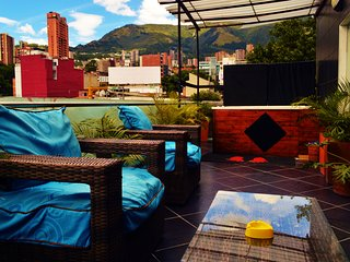Awesome 2 BR Apt Bachelor Party OK Jacuzzi & Terrace at Parque Lleras