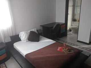 Habitacion con balcon y hamaca