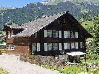 Ferienwohnung in ruhig gelegenem Chalet mit Pistenanschluss