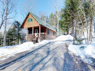 Dog-friendly cabin w/ wood stove, patio, & firepit plus easy trail & lake access
