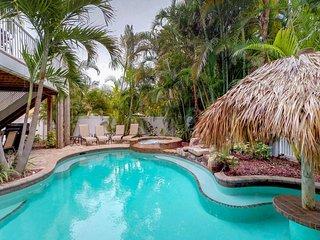 Dog-friendly home w/ private pool & Gulf views - close to the beach