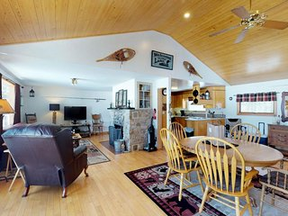 Lakefront, dog-friendly cabin w/ private dock & pebble beach in a quiet setting