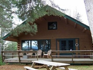 Two lakefront homes w/ dock, pebble beach, firepit & decks - great for families!