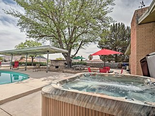 Rustic Las Cruces House w/ Private Pool & Hot Tub!